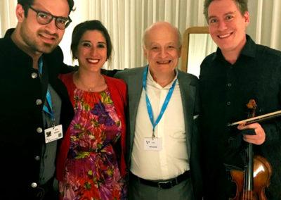 Eduard & Stéphanie Wulfson, with Marc Bouchkov & Kristof Baráti